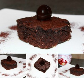 Brownie aux griottes